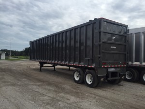 steel rendering trailer