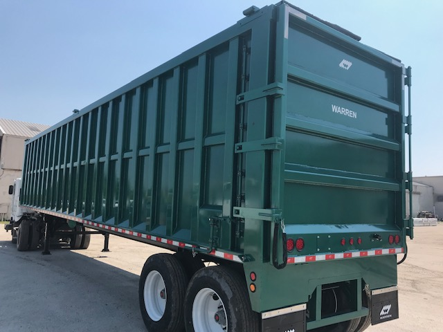 45 ft horizontal discharge ejector trailer
