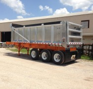 Aluminum Body Steel Frame Dump Trailers