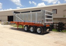 Aluminum Body Steel Frame Dump Trailer Gallery