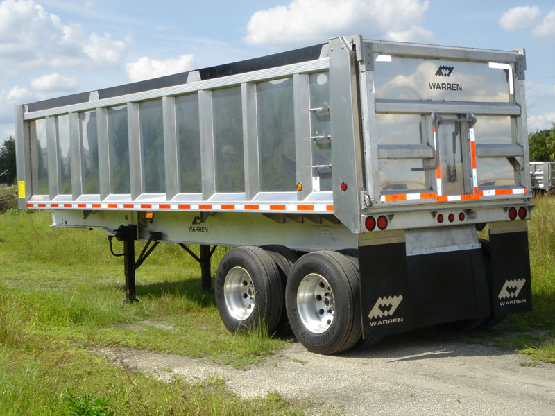 Aluminum Body Amp Frame Dump Trailers Warren Trailers