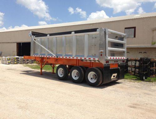 Aluminum Body Steel Frame Dump Trailers